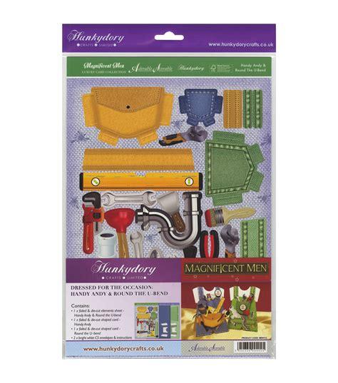hunkydory card kits hunkydory crafts magnificent handy andy the u