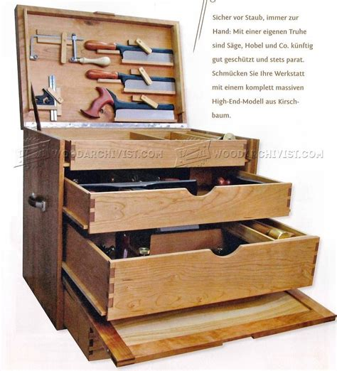 woodworking tool plans woodworking tool chest plans woodarchivist