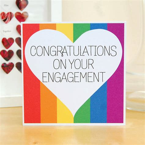card for your congratulations on your engagement card by pink and