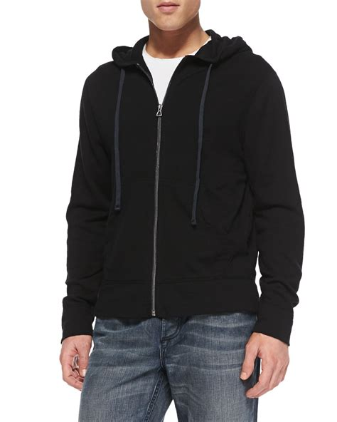 knitted hoodies cotton knit zip hoodie in black lyst