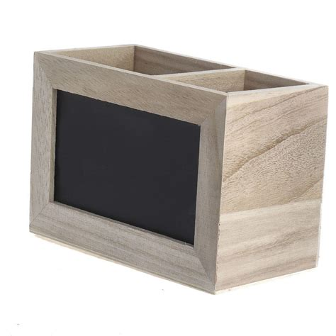 unfinished wood unfinished wood chalkboard display caddy mini