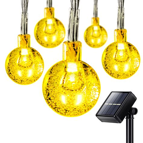 solar globe string lights 50 led solar outdoor string lights globe string