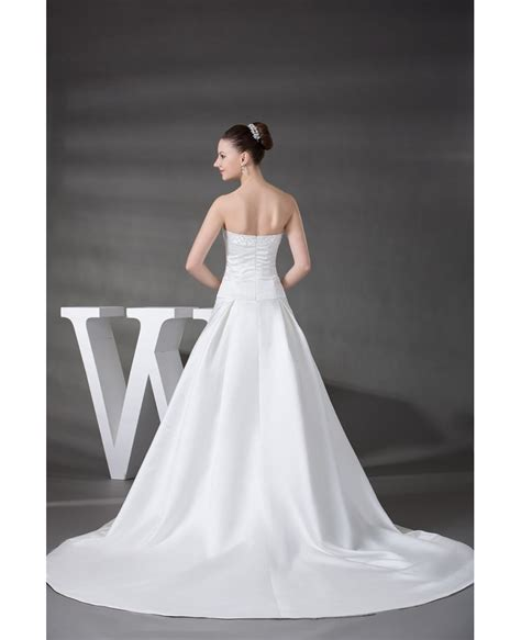 strapless beaded wedding dress strapless beaded satin wedding dress with oph1218