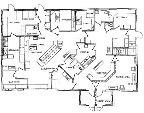 floor plan of a hospital animal health care center of hershey