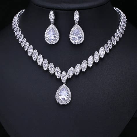 from jewelry clear cubic zircon wedding jewelry sets bridal