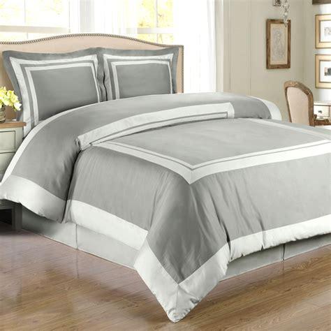 gray light gray hotel duvet cover set wrinkle resistant