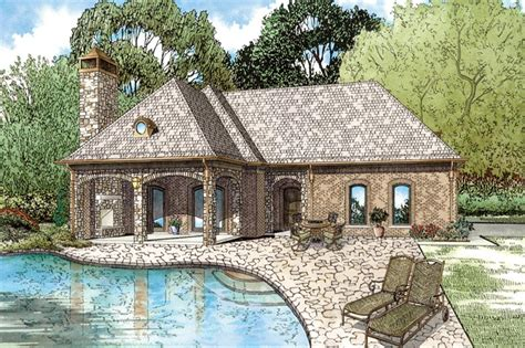 house plans with pool house guest house house plan 153 2028 1 bdrm 1 117 sq ft cottage home theplancollection