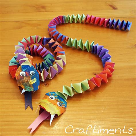 new paper craft ideas craftiments new year snake craft paper crafts