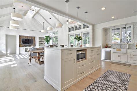farmhouse open concept kitchen designs family room