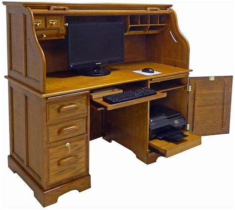 roll top desk oak roll top computer desk in stock