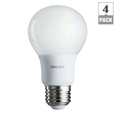 home depot light sale 4 pack philips 60w equivalent soft white a19 led light
