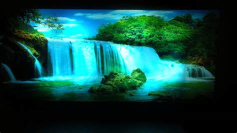picture with lights moving picture in motion mirror framed waterfall picture