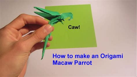 how to make out of paper how to make an origami macaw parrot