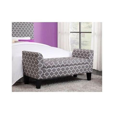 storage ottoman bench bedroom modern grey trellis pattern storage ottoman bench chair