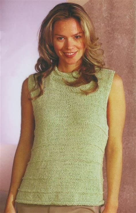 sleeveless sweater knitting pattern roll neck sleeveless shell knitting pattern knitting