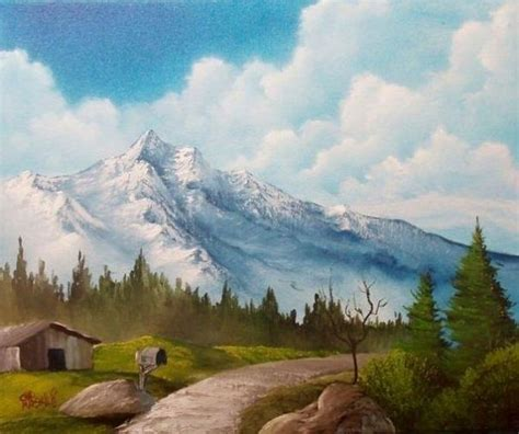 bob ross paintings mountains bob ross pathway by the mountain paintings bob ross