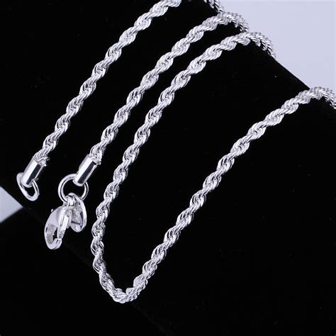 sterling silver chain for jewelry retail wholesale accessory jewelry high quality 925