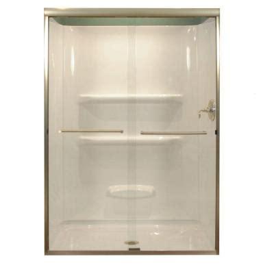home depot sliding shower doors lyons industries 47 in x 68 in semi framed sliding