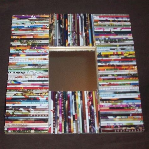 rolled magazine paper crafts recycled picture frame made from rolled up magazine