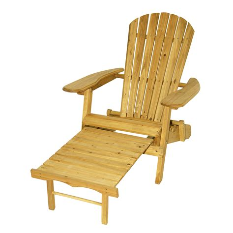Folding Adirondack Chair Plans by Astonica Folding Wood Adirondack Chair With Ottoman Cedar