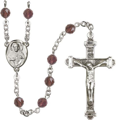 swarovski rosary o connors church supply 6mm burgandy swarovski rosary