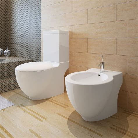 Toilet En Bidet by Vidaxl Co Uk Stand Toilet Bidet Set White Ceramic