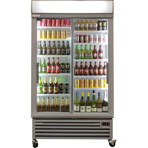 glass door bar fridge sliding 2 door upright commercial bar fridge melbourne