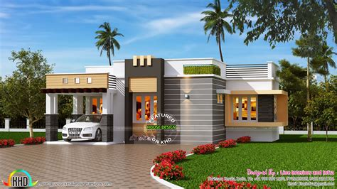 small contemporary house designs 1100 sq ft contemporary style small house kerala home