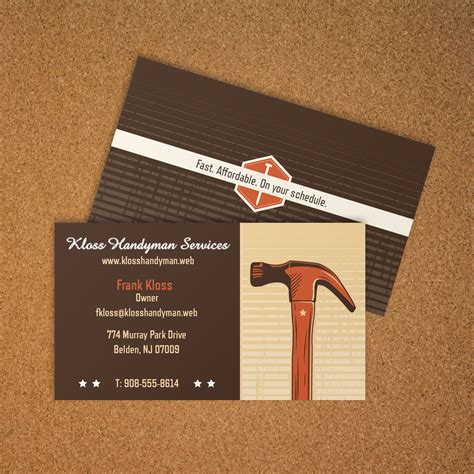 general contractor business card vistaprint business