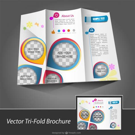 free downloads brochure with pin maps vector free