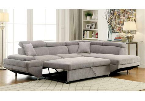 pull out sofa sectional sectional sofa with pull out sleeper gus brown