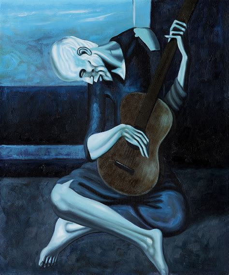 picasso paintings blue period guitar overstockart releases annual top 10 list pablo