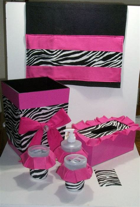pink and black bathroom accessories 307 best images about zebra theme room ideas on