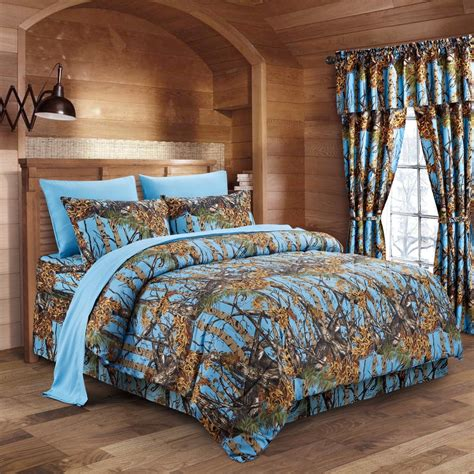 blue camo bedding powder blue camo bed in a bag set the sw company