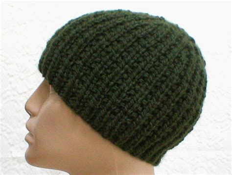 green knit hat olive green knit beanie hat ribbed beanie reversible by