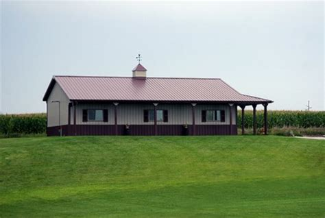 Metal Building Floor Plans With Living Quarters ranch style pole barn houses house design plans