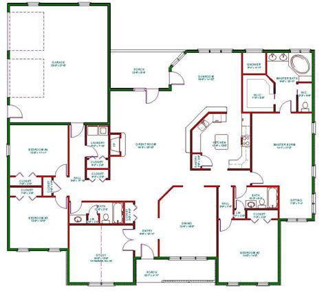 one story house blueprints traditional ranch house plan single level one story ranch house plan the house plan site