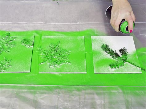 spray paint canvas turn leaves and foliage into diy canvas wall hgtv