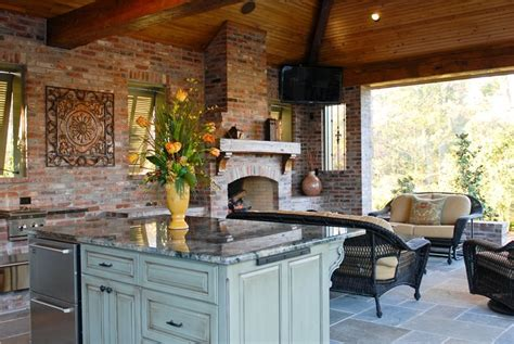 outdoor kitchens ideas pictures high end outdoor kitchen in louisiana landscaping network