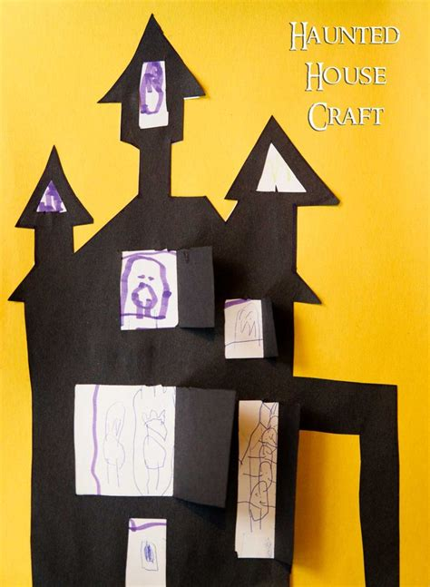 haunted house craft for easy haunted house craft