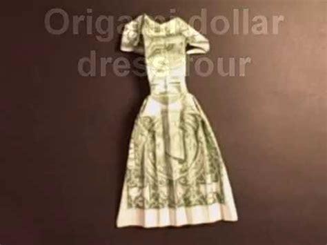 origami dollar bill dress geldscheine falten rock videolike
