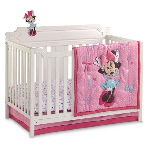 baby minnie mouse crib bedding set disney minnie mouse crib bedding set