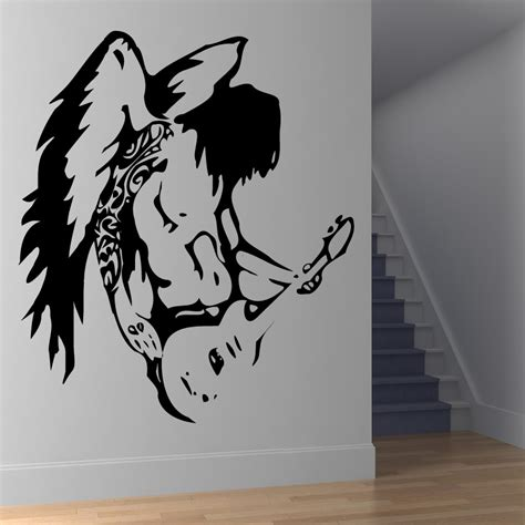guitar wall stickers guitar wall sticker wall decal transfers ebay