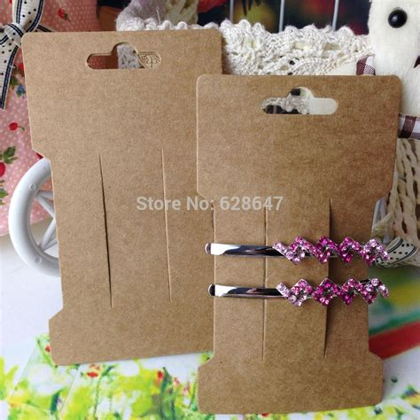 card accessories wholesale wholesale free shipping 2015 new kraft hair clip card
