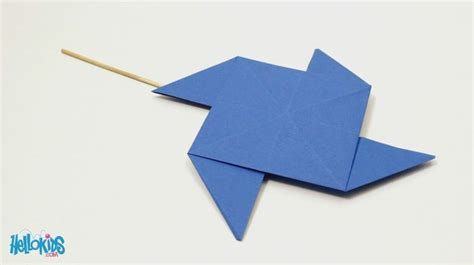 paper windmill craft how to craft origami windmill hellokids