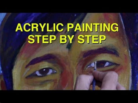 acrylic painting portrait step by step acrylic painting portrait painting step by step basic
