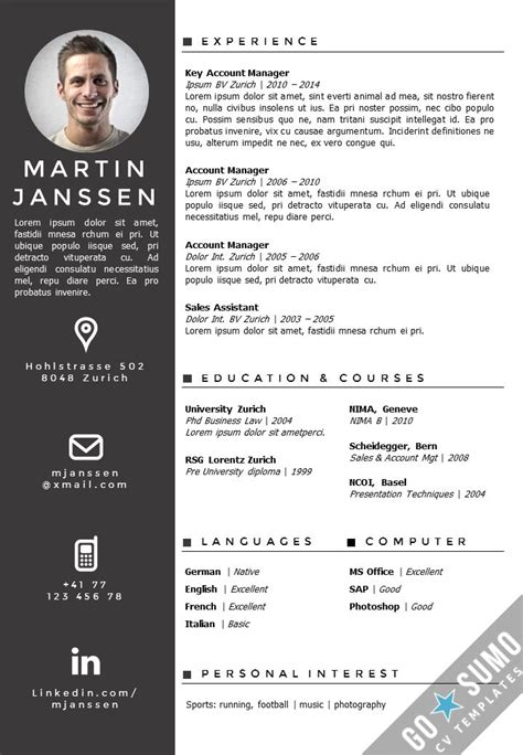 the 25 best ideas about cv template on pinterest