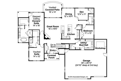 ranch home floor plans ranch house plans creek 30 878 associated designs