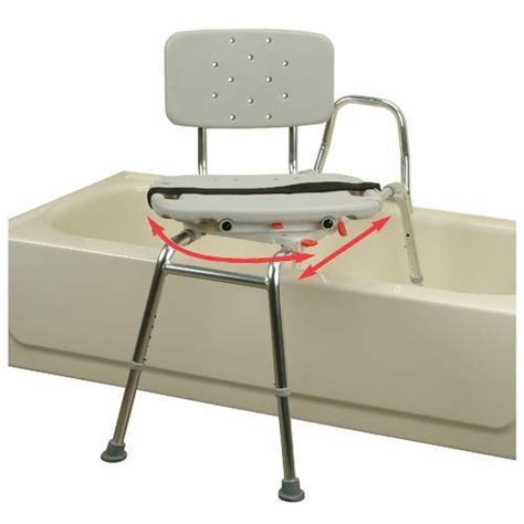 swivel shower chairs snap n save sliding transfer bench 37662 w swivel seat