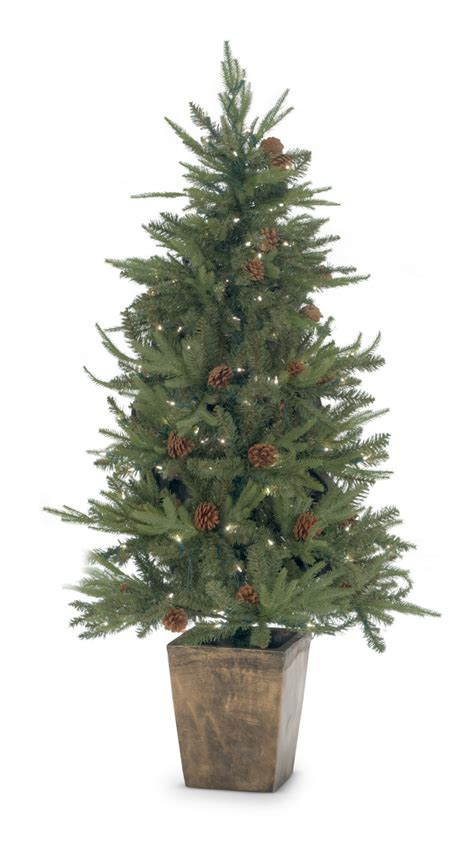 silver tree with lights silver pine 5 pre lit artificial tree with